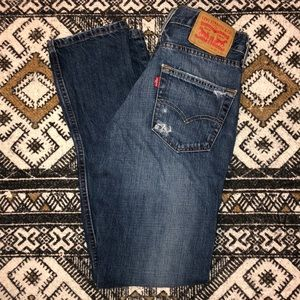Levi's 511 perfectly distressed jeans size 30W 30L